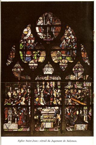 Vitrail du couronnement de Louis le Bègue