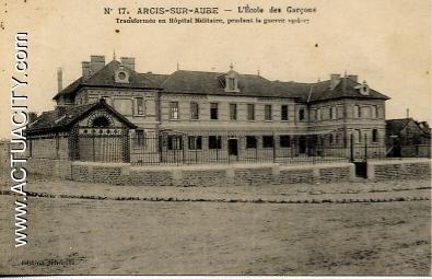 Ecole de garçons transformé en hôpital militaire