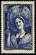 Toquat champenois sur un timbre