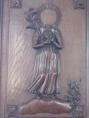 St Parre tenant sa tête (Eglise de St Parres les Vaudes)