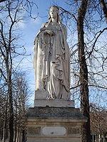 Statue de Clodilde au Jardin du Luxembourg à Paris