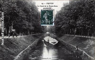 canal de la haute Seine en allant sur Barberey