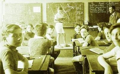 Salle de classe pendant l'occupation