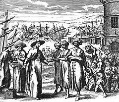 Pères trinitaires achetant des captifs