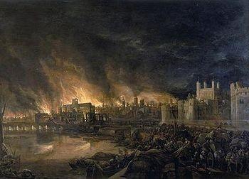 Le grand incendie de Londres, du 2 au 5 septembre 1666