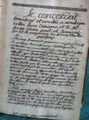 CONCORDAT DE 1516