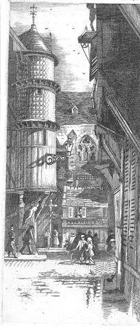 Quartier St-Jean avec la tourelle de l'orfèvre