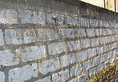 mur de craie de Chanteloup