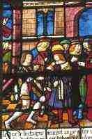 Vitrail de saint Louis offert à Ste Madeleine par Simon Liboron