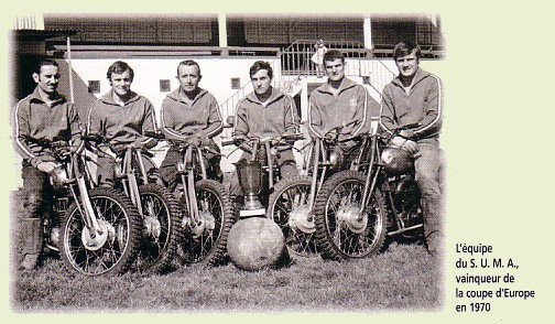 Equipe du SUMA en 1970 (Tournemeule, F.Blanc,, Cossard, J.Blanc, Devreed, Maraghini