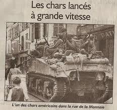 Char américain rue de la monnaie à Troyes