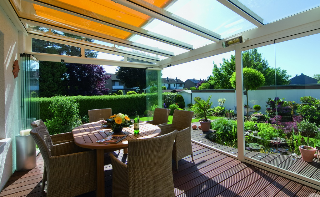 sonnen und windschutz terrassend cher winterg rten. Black Bedroom Furniture Sets. Home Design Ideas