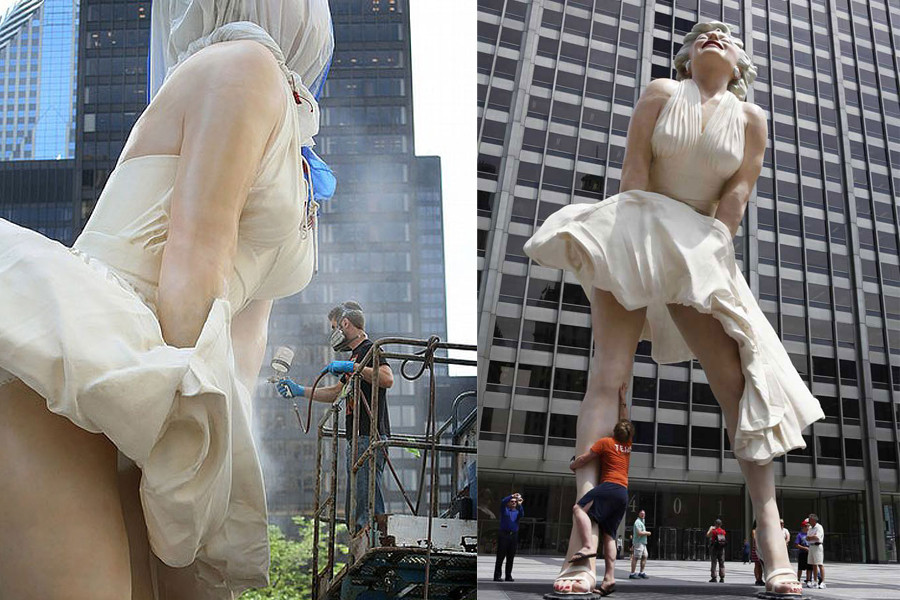 памятник Мэрилин Монро