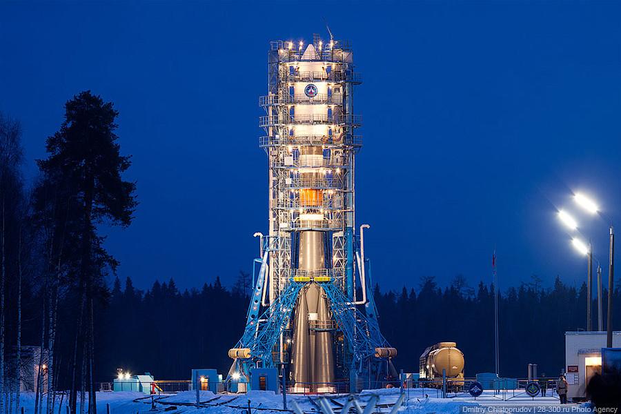 Старт ракеты-носителя «Союз» и спутника «Меридиан» в Плесецке