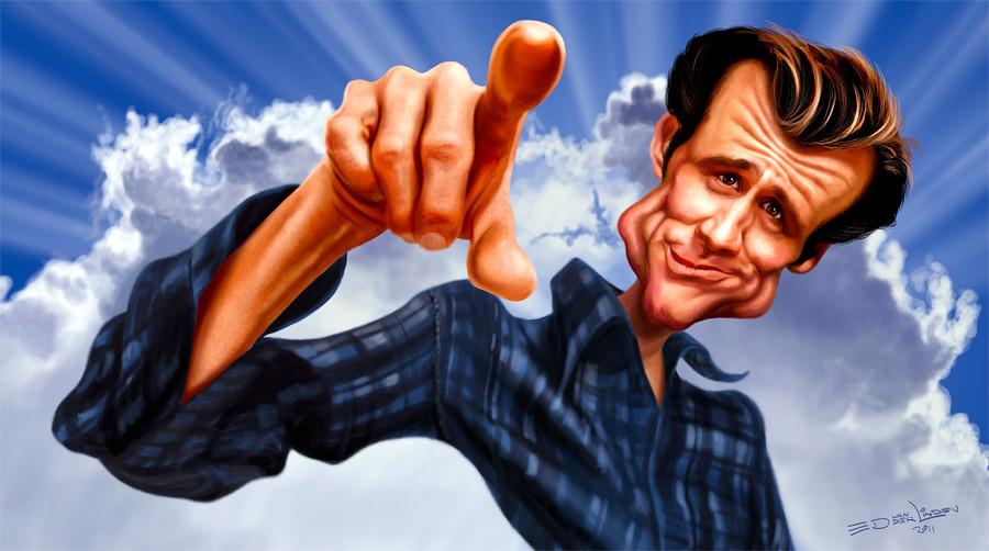 Карикатуры знаменитости  Ed van der Linden