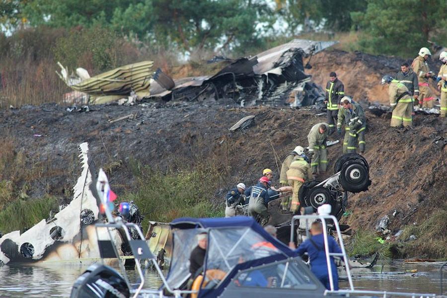 Трагедия в Ярославле: Погибла команда Локомотив Ярославль