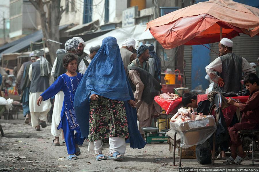 Рынок в Мазари-Шарифе, Афганистан