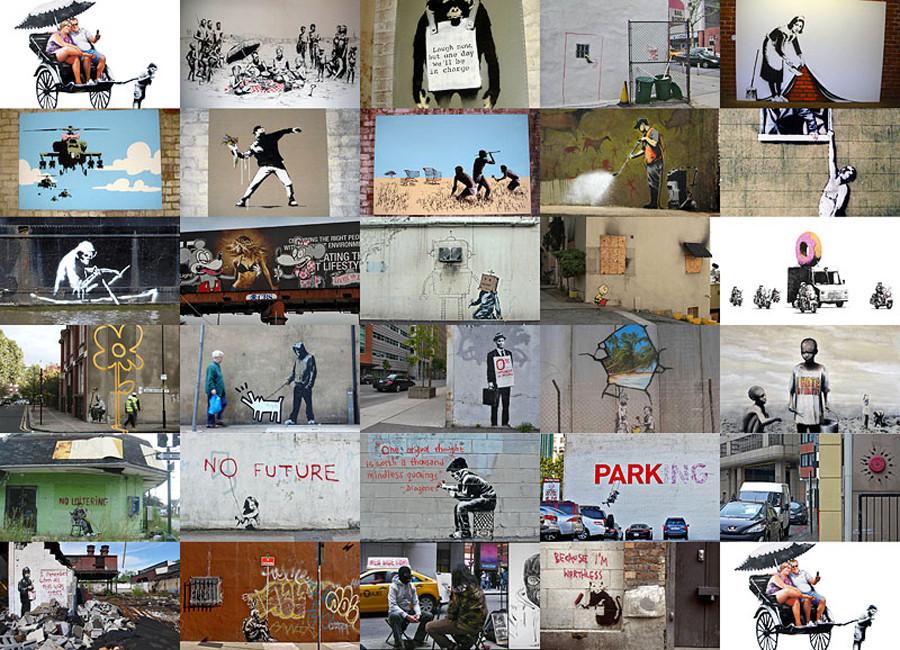 Бэнкси граффити искусство, стенсилс, художник