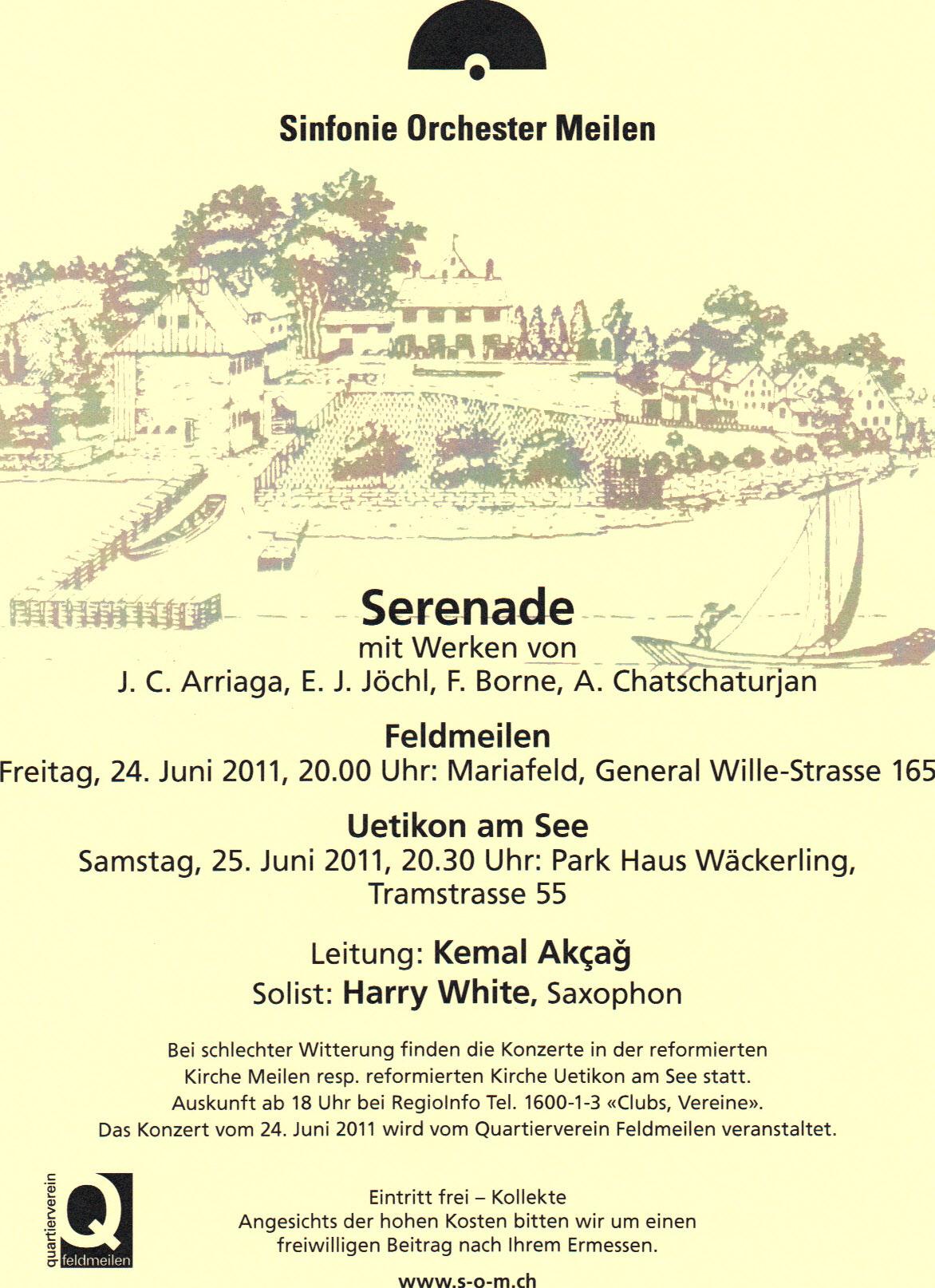 Plakat Sinfonieorchester Meilen, 2011