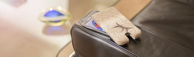 Handytasche, Filz, iPhone, Samsung+Galaxy
