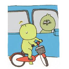 ■月Ξ日 自転車に乗っているときの、顔のしかめっ面具合に気づく。