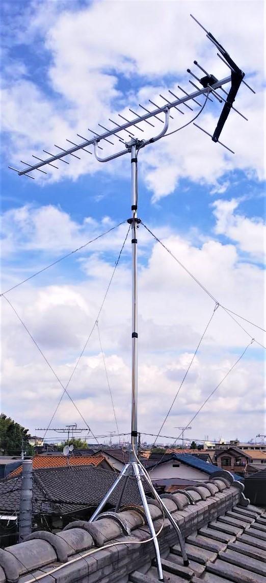 テレビアンテナ 取り替え工事