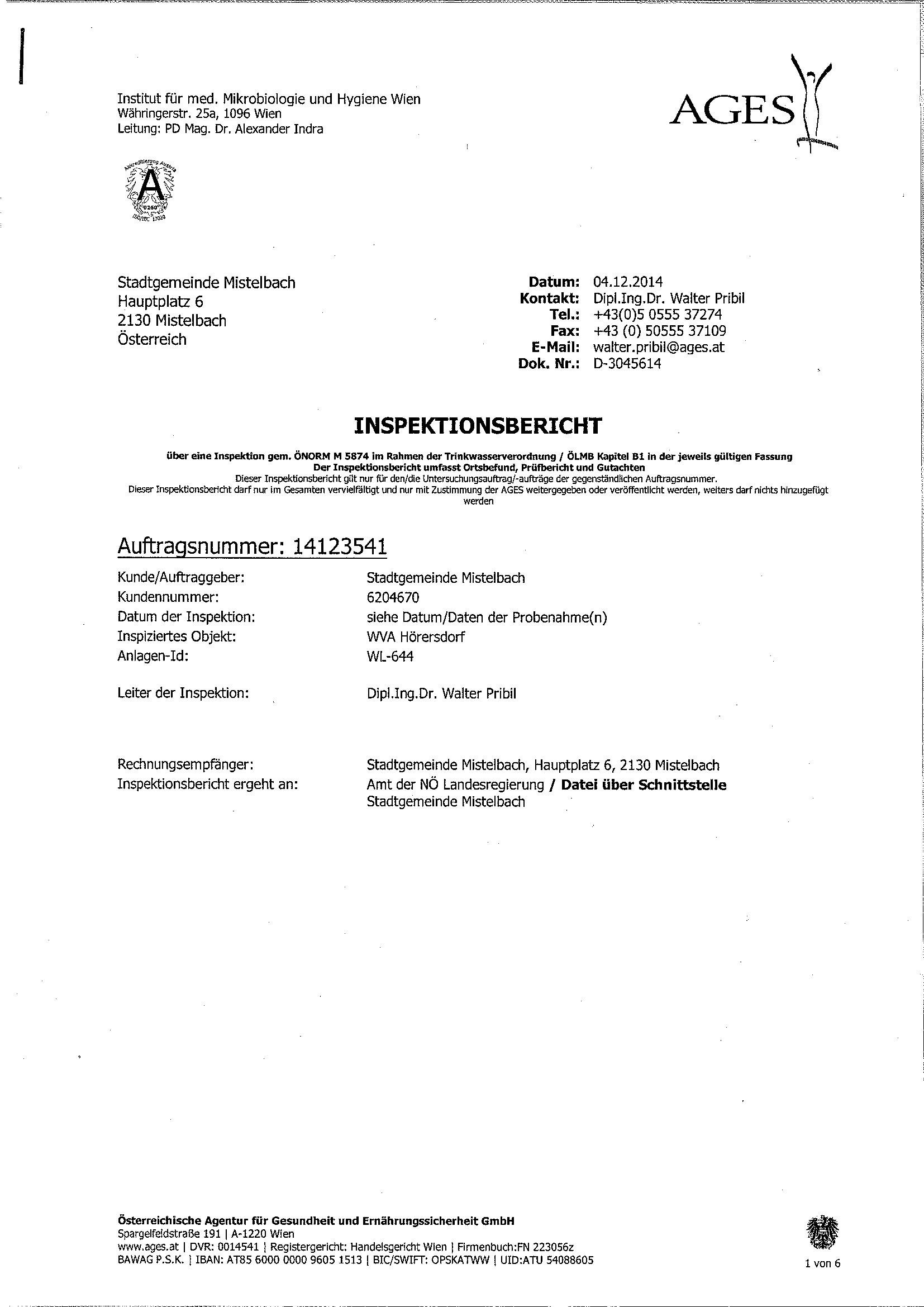 Trinkwasser nitratwerte h rersdorf termine immobilien angebote dorfchronik - Amtliche afa tabelle 2016 ...