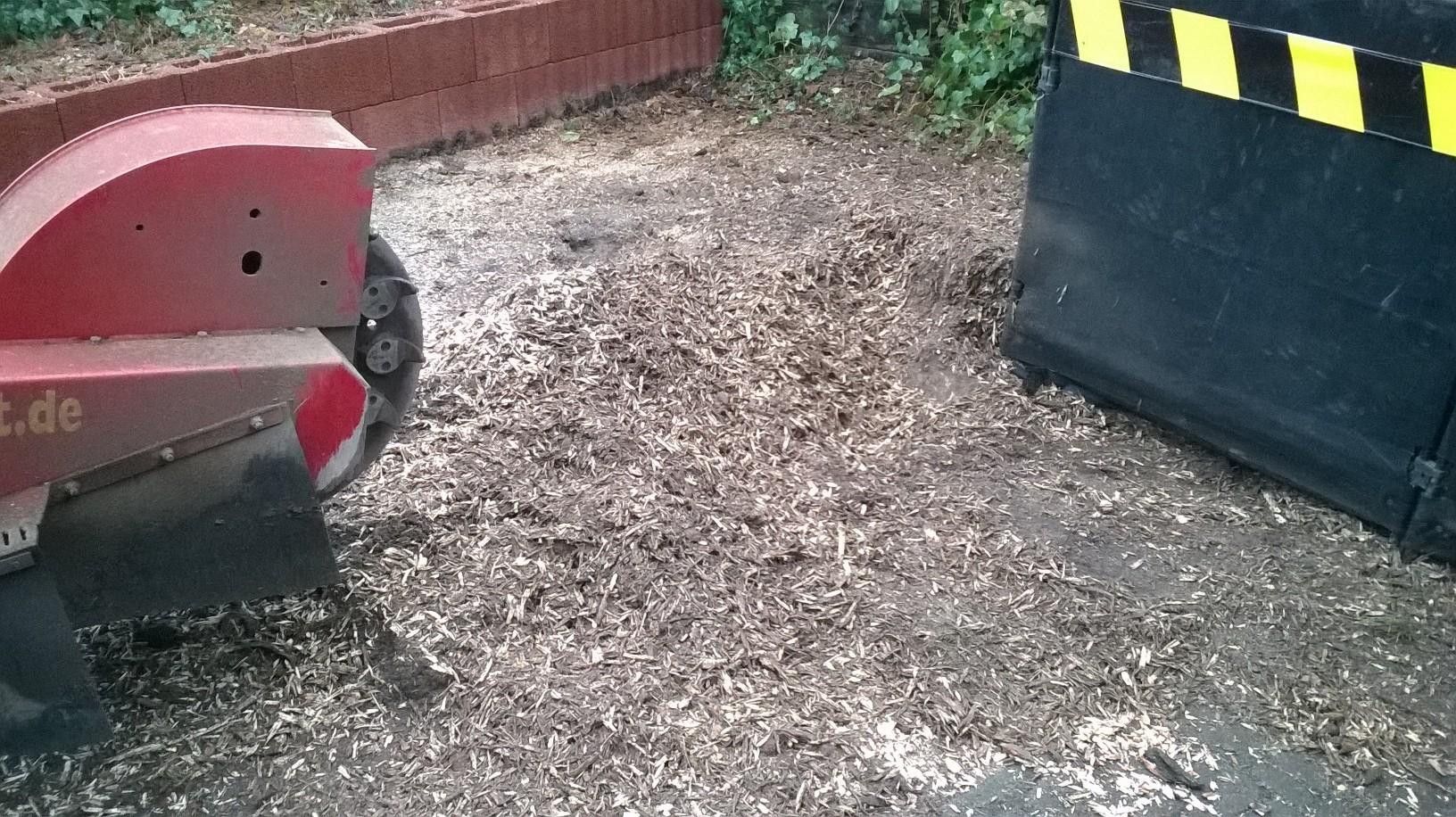 Frässpäne können zum Mulchen verwendet werden.