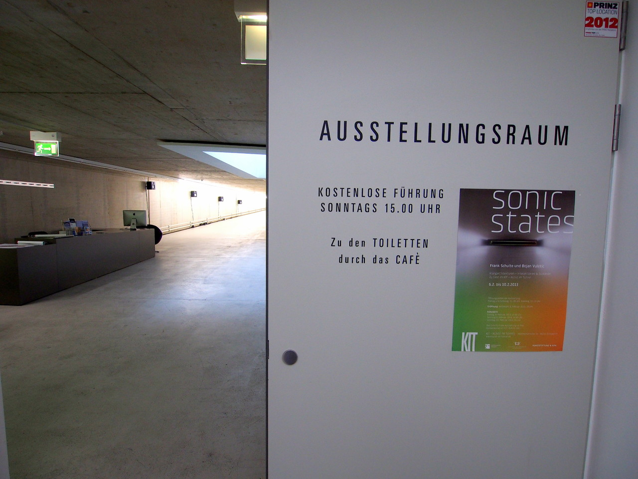 sonic states - intermediäre Klangkunstausstellung - KIT 2013 -Eingangsbereich