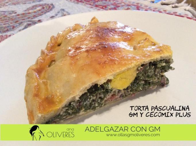 Torta pascualina-receta para cecomix plus, olla programable gm y cabezal de horno