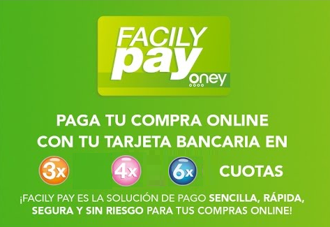 Financiación en 3, 4 o 6 meses