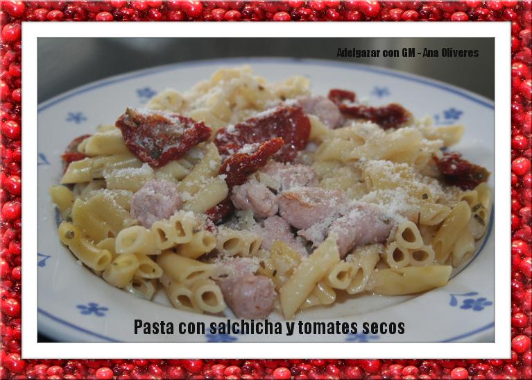 Receta de macarrones con salchichas y tomates secos para ollas programables GM