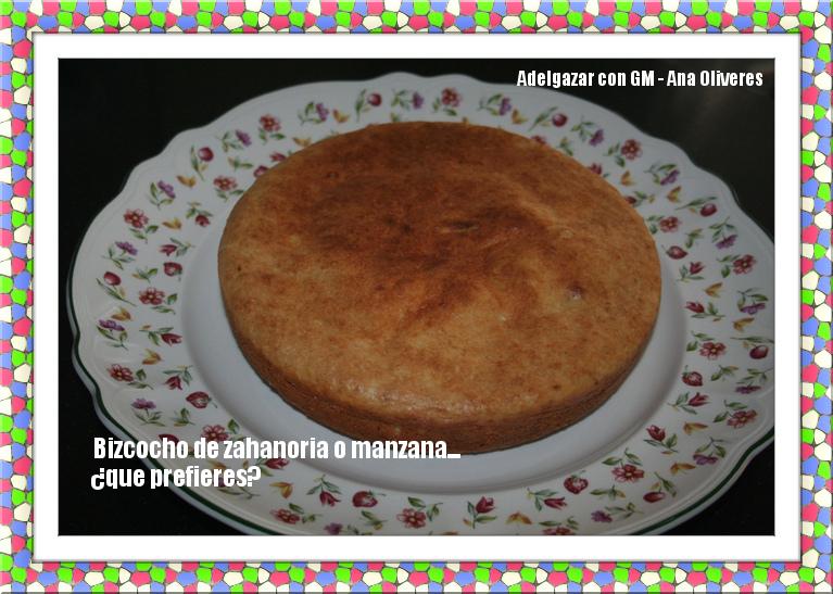 Receta de bizcocho de manzana y receta de bizcocho de zanahorias para ollas programables GM