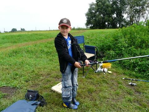 Adam beim großen Fang im August 2010