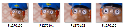 Thumbnails from the 12M EZ, 8M EZ, 5M EZ and the 3M  EZ with the zoom at maximum