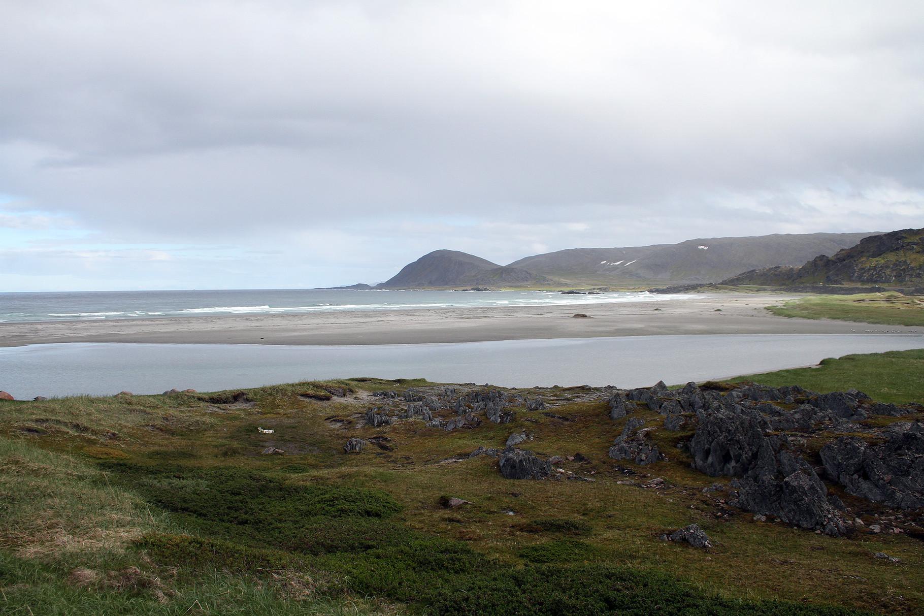 Küstenlandschaft an der Barentsee bei Berlevag