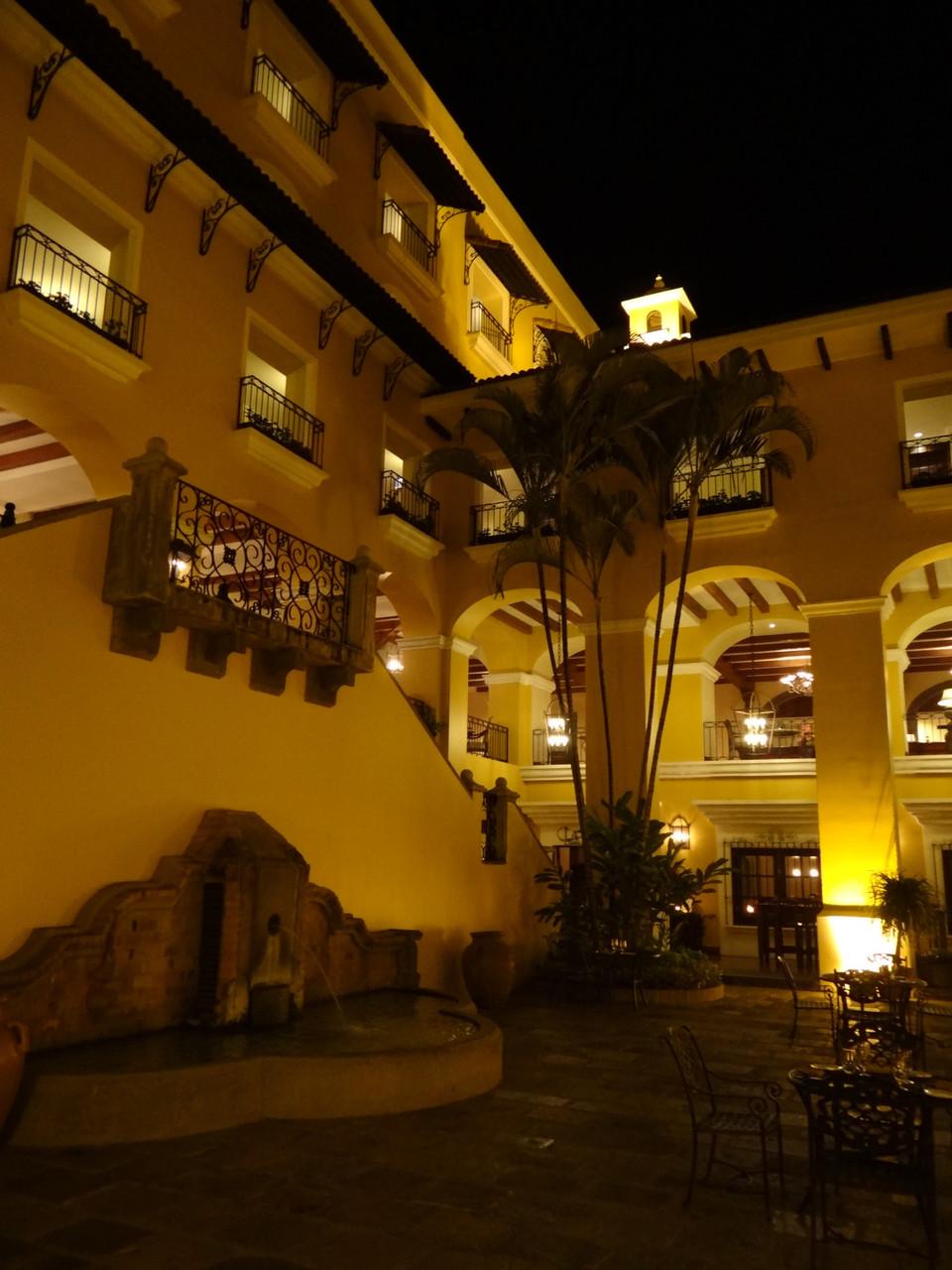 Unser letztes Hotel vor dem Abflug: das prachtvolle Mariott  in San José
