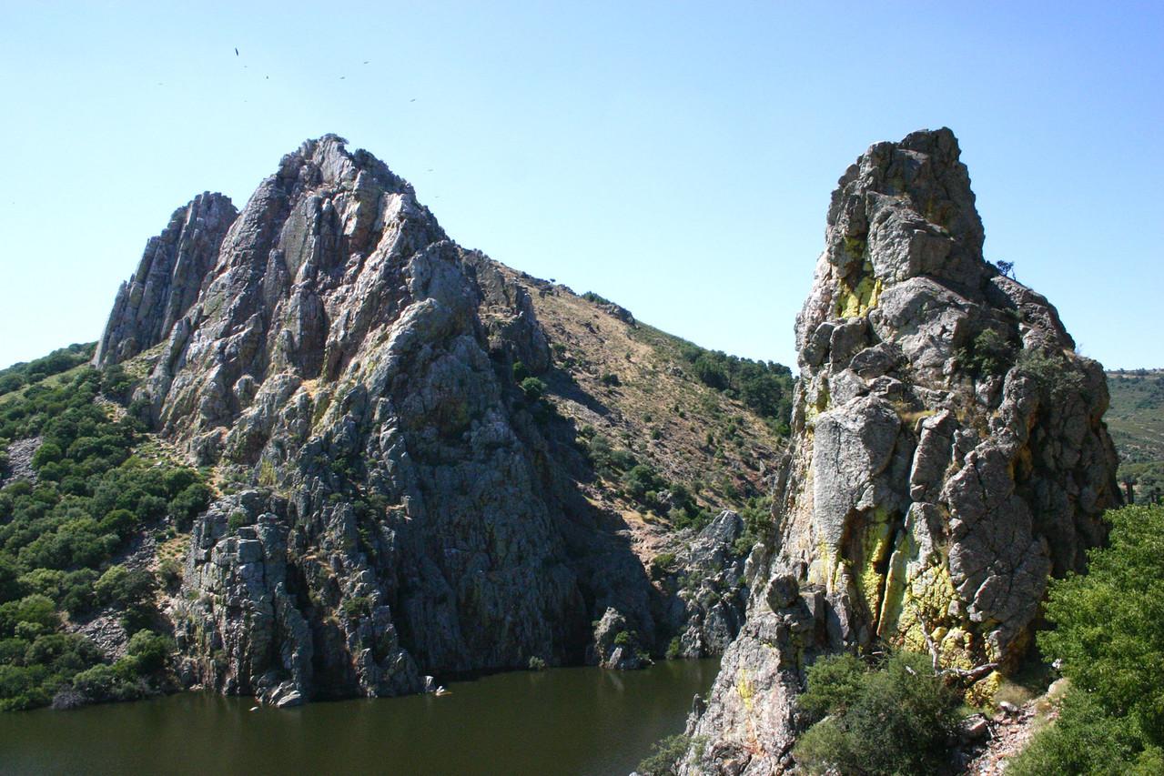 Der berühmte «Geierfelsen» beim Salto del Gitano (Monfragüe-Nationalpark)