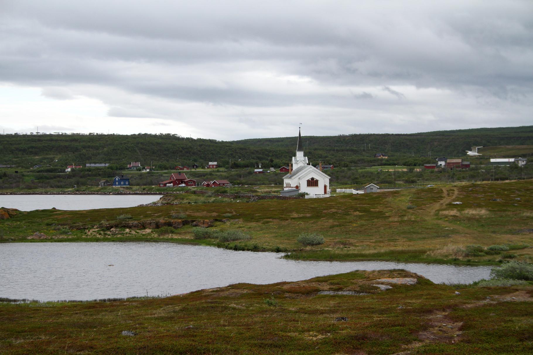Vom Pasvik-Tal fuhren wir am 25. Juni weiter zum Varanger-Fjord, ein bekannter Beobachtungsplatz befindet sich bei der Kirche von Nesseby