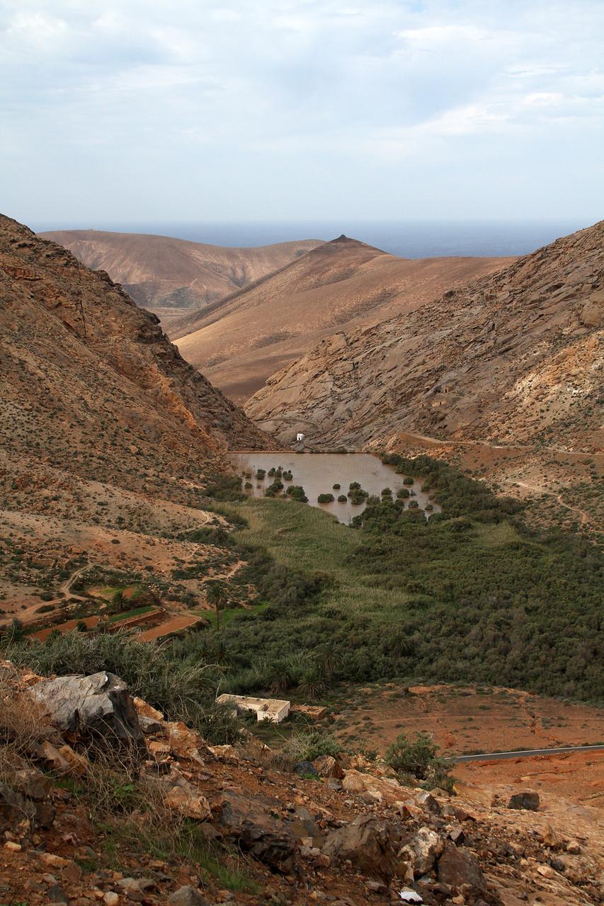 Der Las Penitas-Stausee in der Nähe von Betancuria