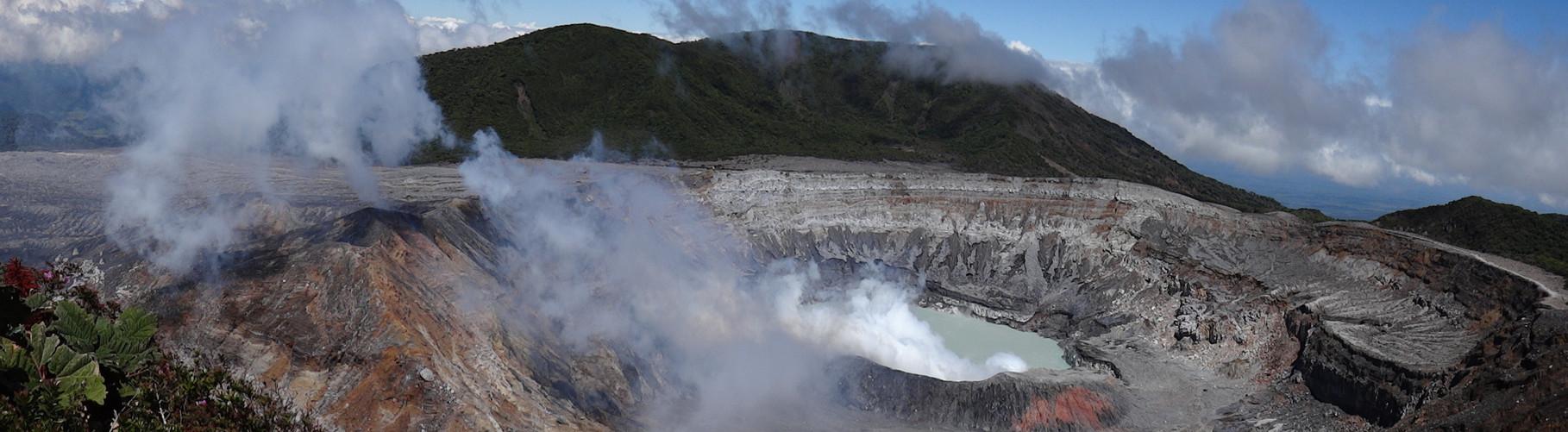 Erstes Etappenziel der Rundreise: der Vulkan Poas...