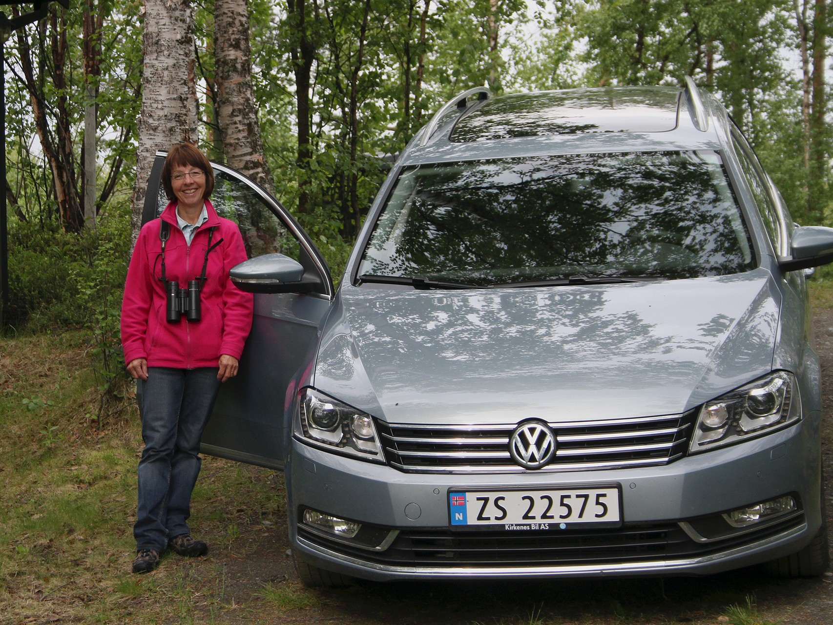 Unser VW-Passat Variant leistete gute Dienste und war oft unsere Zuflucht vor der Kälte