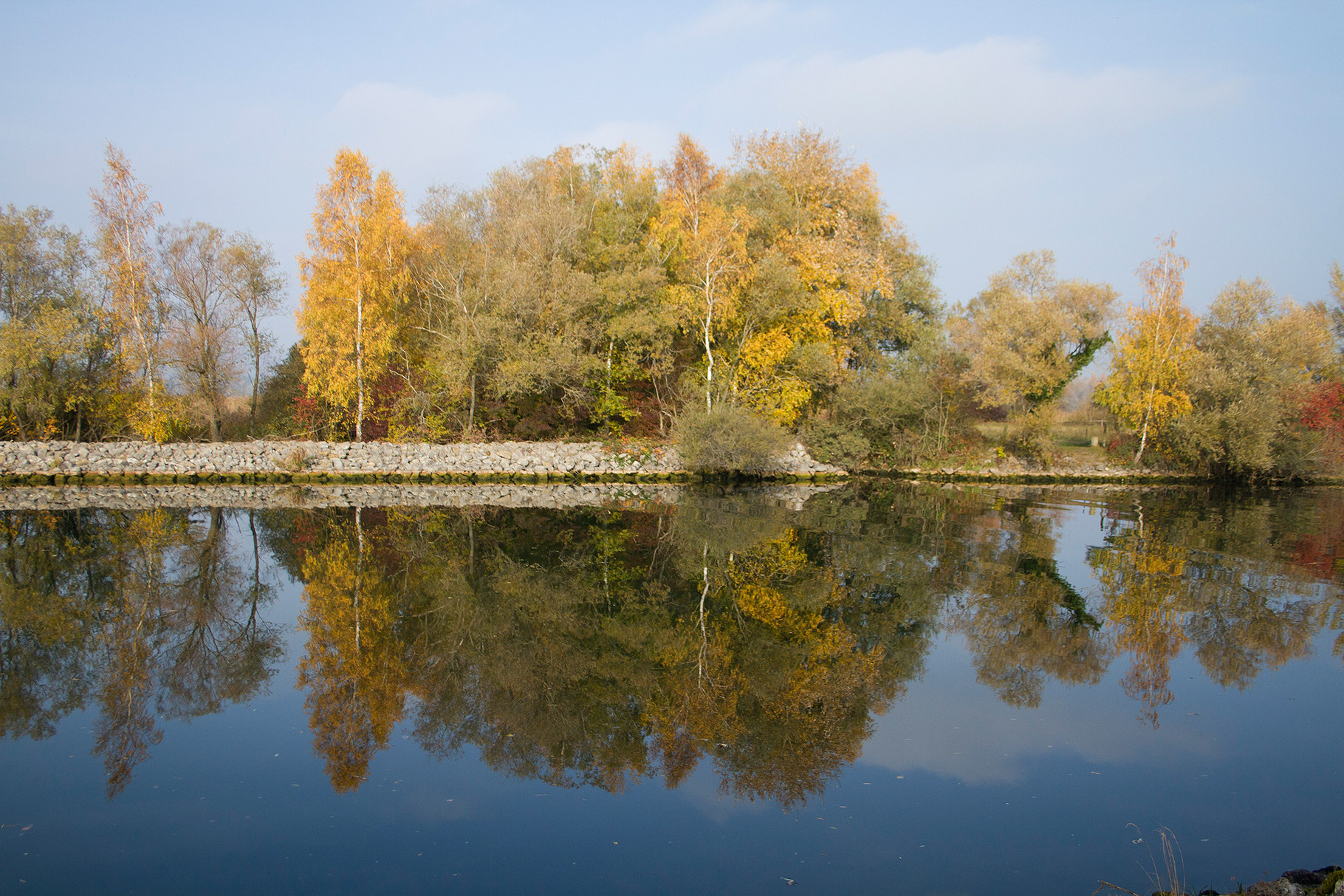 Herbststimmung am Canal de la Broye