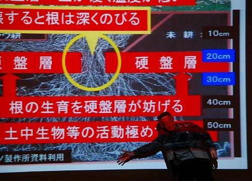 スクリーンの前にまで出て熱心に解説をする木村さん 迫力ありました!
