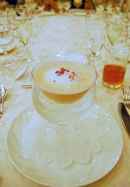 木村秋則さんの自然栽培りんごの冷製スープ:青森 山崎 隆chef