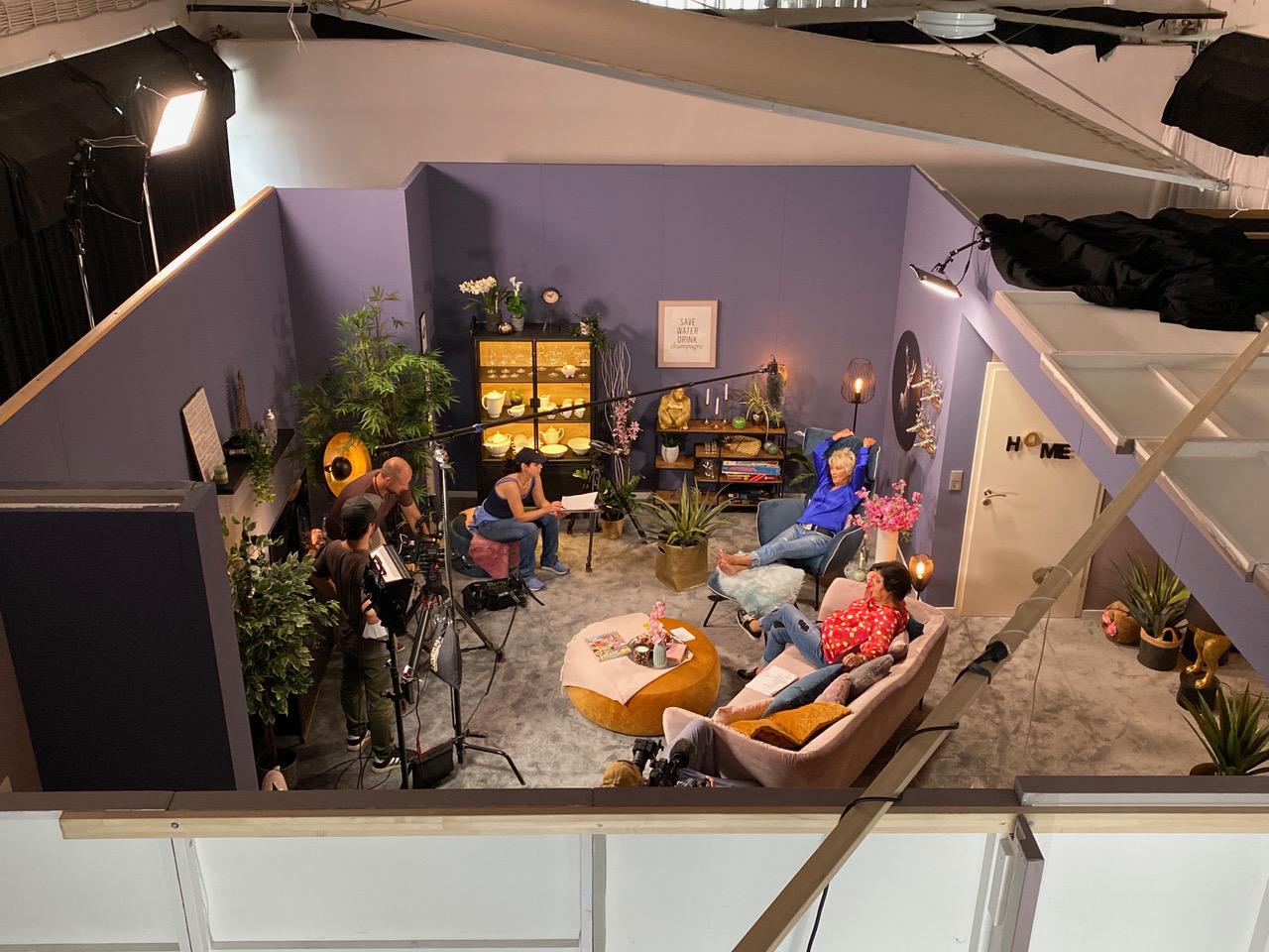 Ein Blick von oben: Set im Studio