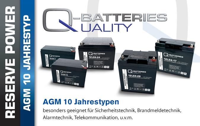 AGM Batterien 10 Jahrestyp