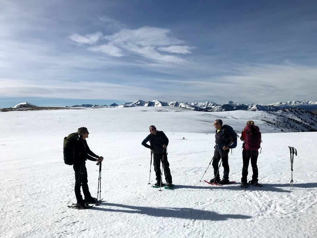 Récit d'une randonnée hiver au sud du Canigou
