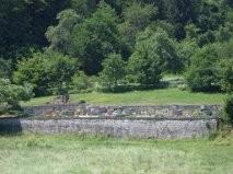 Le cimetière de Lollbach où les restes de l'équipage furent déposés en 1945 après la fin des combats