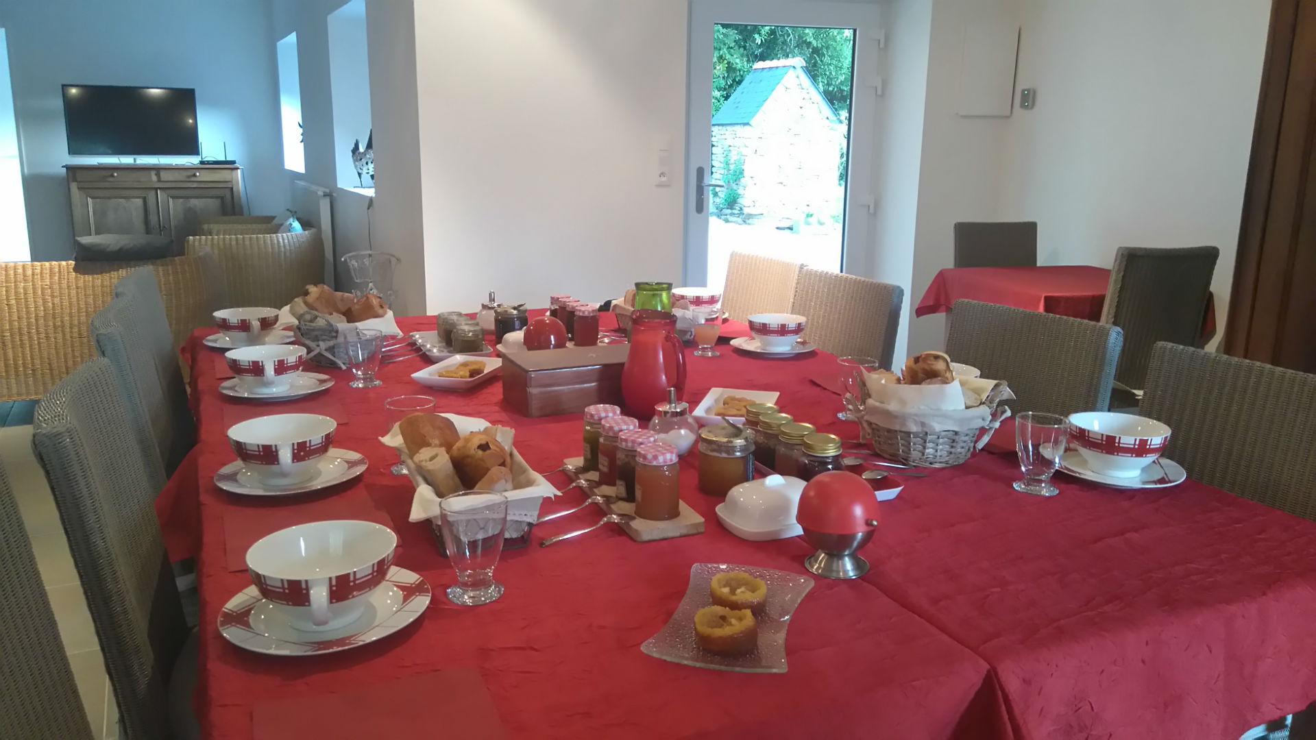 Table du petit déjeuner